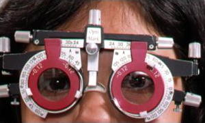 Optician's adjustable eyeglasses