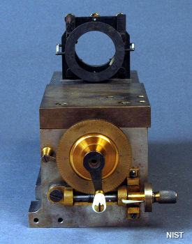Detail of a Fabry Perot interferometer designed by Dr. Samuel Stratton, NIST, c.1912