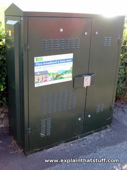 Fiber-optic broadband cabinet.