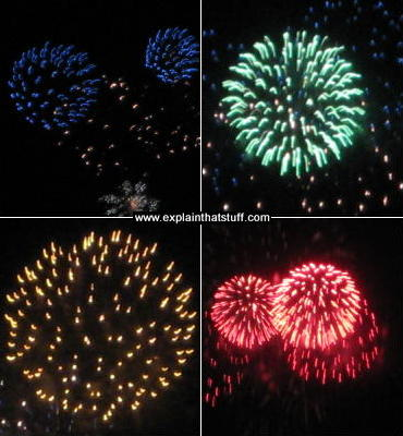 How different metal salts make fireworks of different colors.