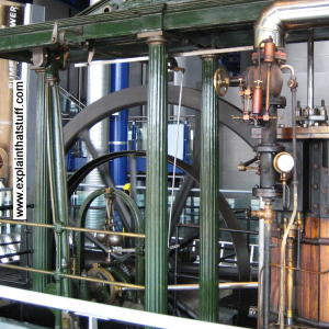 Flywheel on an Easton Amos gas pumping engine