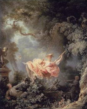 The Swing oil painting by Fragonard.
