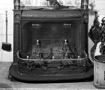 A typical Franklin stove.
