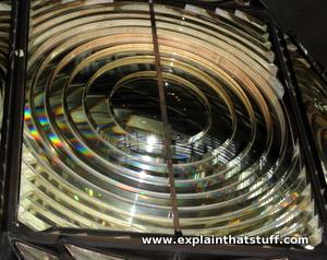 Close-up of a Fresnel lens.