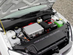 Under the hood of a fuel cell Ford Focus car
