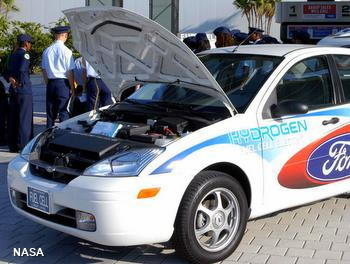 A fuel cell Ford Focus car