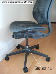 Office chair with gas spring lift