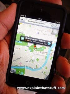 Navigating with GPS on an iPhone
