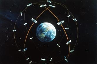 24 NAVSTAR GPS satellites in orbit around Earth