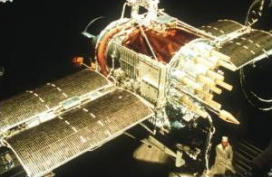 NAVSTAR GPS satellite under construction on Earth