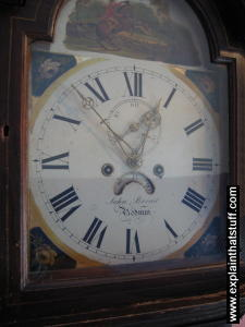 A large grandfather clock