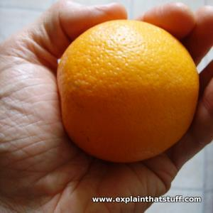 A hand lifting an orange of mass 100kg supplies a weight of 1N (1 newton).