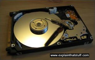 A laptop hard drive