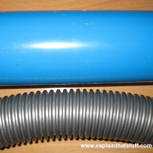Parts of a plastic heat exchanger.