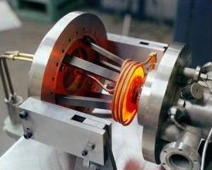 High-temperature airframe bearing rig test. NASA photo.