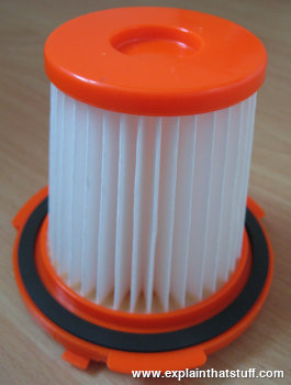 HEPA filter from a vacuum cleaner