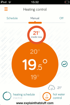 Hive allows you to control your home heating using a smartphone app.