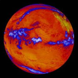 Warming earth image from NASA