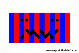 Artwork showing how lenticular printing works
