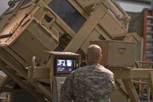 HEAT trainer helps US Army personnel to practice escaping from a Humvee.