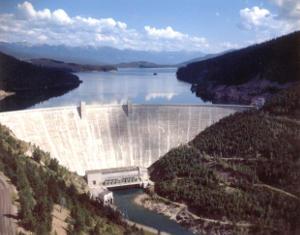 Hungry Horse Dam in Montana, courtesy US Bureau of Reclamation.