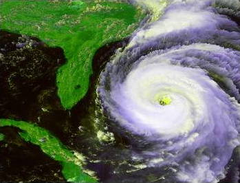 Photo: NASA satellite image of hurricane Fran, 1989.