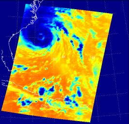 NASA JPL satellite image of Hurricane Isobel, 2003.