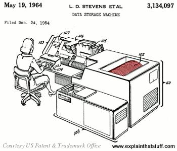 IBM hard drive patent c.1964.