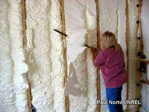 An insulated wall in an eco home
