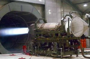 Pratt Whitney F119 Jet engine test
