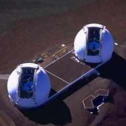 The Keck telescope interferometers