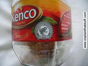Rainforest Alliance logo on Kenco coffee