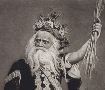 King Lear as played by Edwin Forrest.