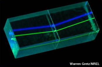 Refraction of laser beams inside crystals