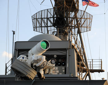Laser Weapon System (LaWS) on board the USS Ponce.