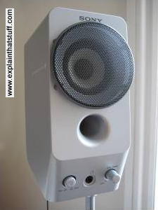 Photo of small Sony bookshelf loudspeaker