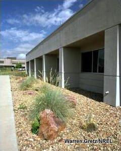 A low-maintenance, low-water garden at US DOE/NREL in Golden, Colorado.