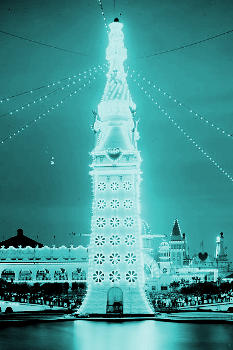 The Electric Tower in Luna Park, Coney Island at night, 1905.