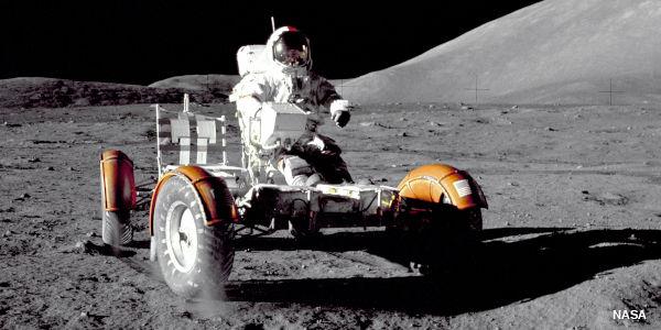 NASA Lunar roving vehicle on the Moon