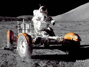 NASA Lunar roving vehicle on the Moon