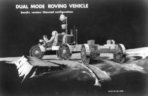 Artist's impression of the lunar roving vehicle from 1969