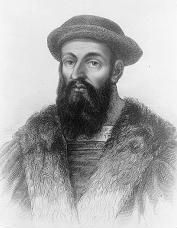 Drawing of explorer Ferdinand Magellan