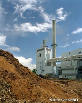 Biomass wood plant at the McNeil station Burlington Vermont