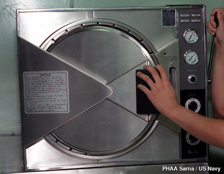 Photo: A typical medical autoclave.
