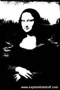 Mona Lisa as she'd appeared if you faxed her