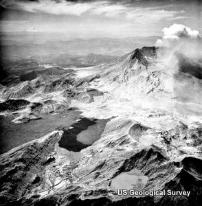 Mount St Helens eruption in 1980.