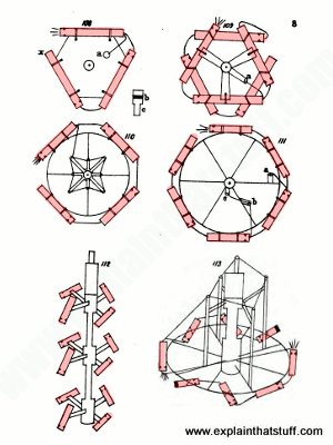 Examples of how fireworks can be connected to make triangular or more complex spinning wheels, caprices, and furilonas.