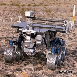 NASA FIDO robot undergoing field tests to simulate driving on Mars.