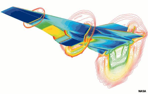 CAD drawing of a NASA hyper-X plane