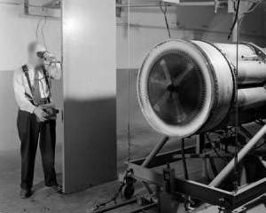 Photo: a NASA experiment to measure temperature with an infrared thermometer (pyrometer).